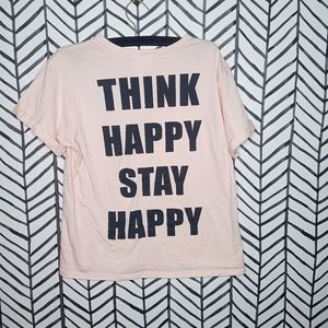 French Pastry Tee Think Happy Stay Happy